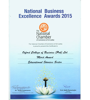 Awards & Certifications – Oxford College of Business Sri Lanka